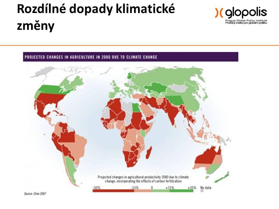 Rozdílné dopady klimatické změny