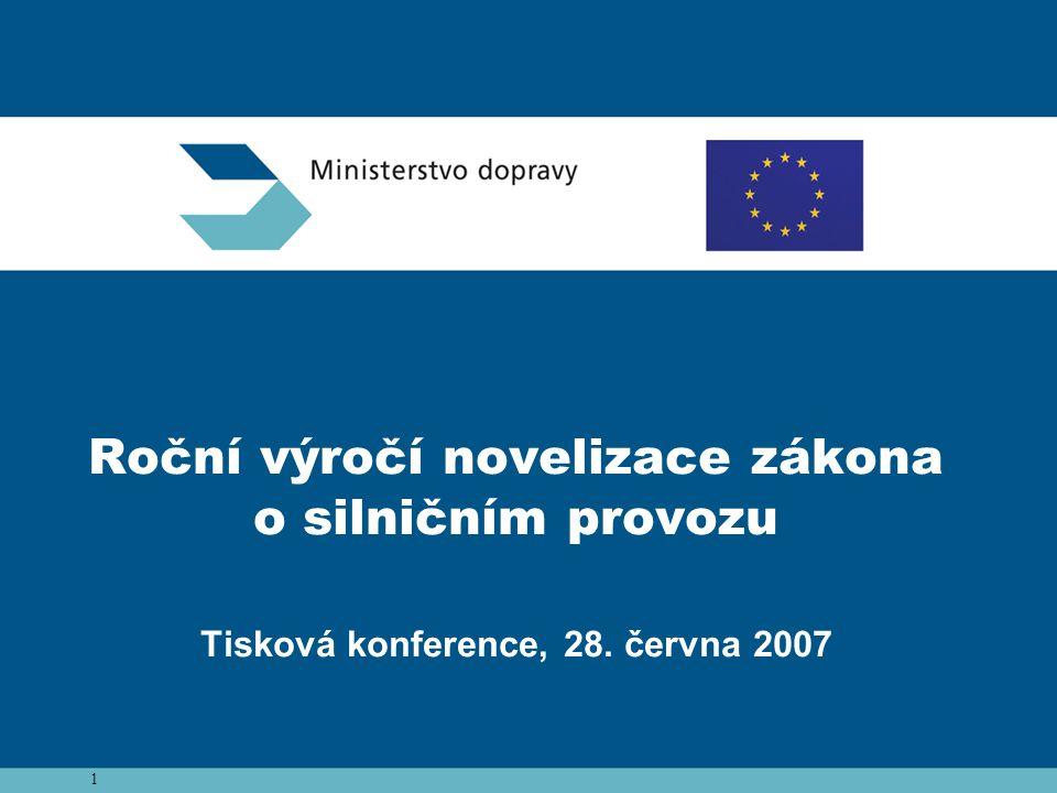1 Roční výročí novelizace zákona o silničním provozu Tisková konference, 28. června 2007