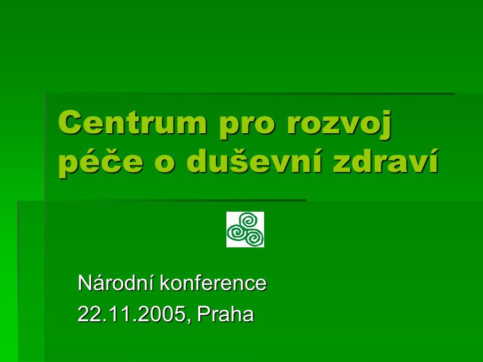 Centrum pro rozvoj péče o duševní zdraví Národní konference 22.11.2005, Praha