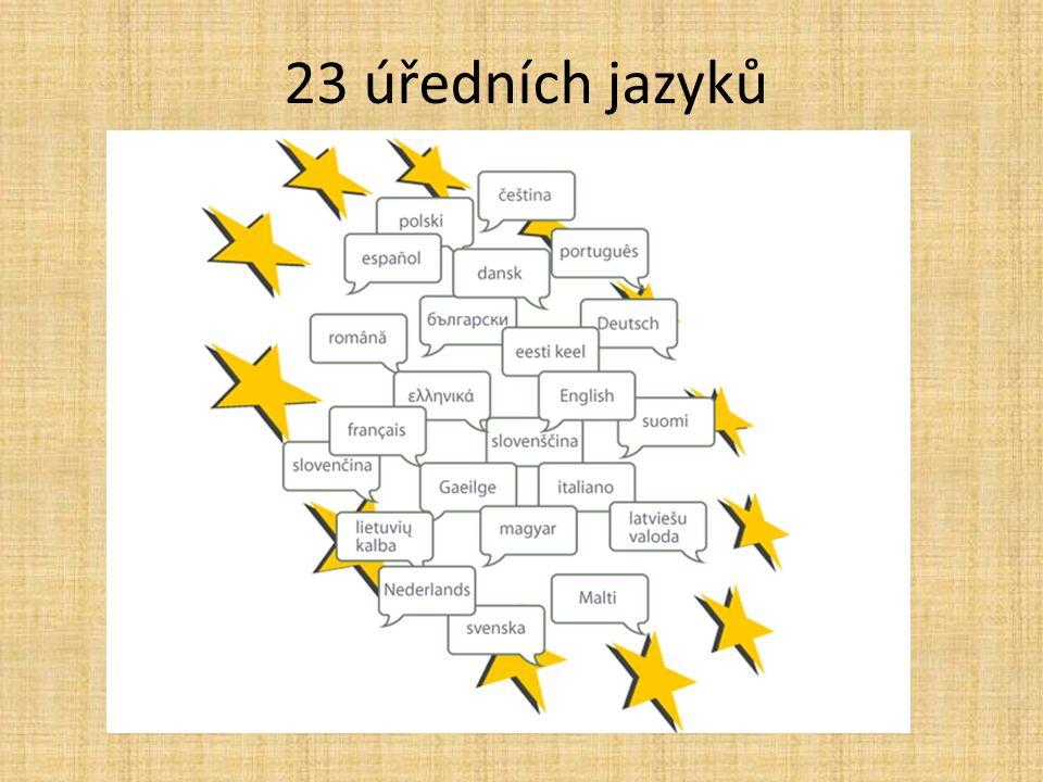 23 úředních jazyků