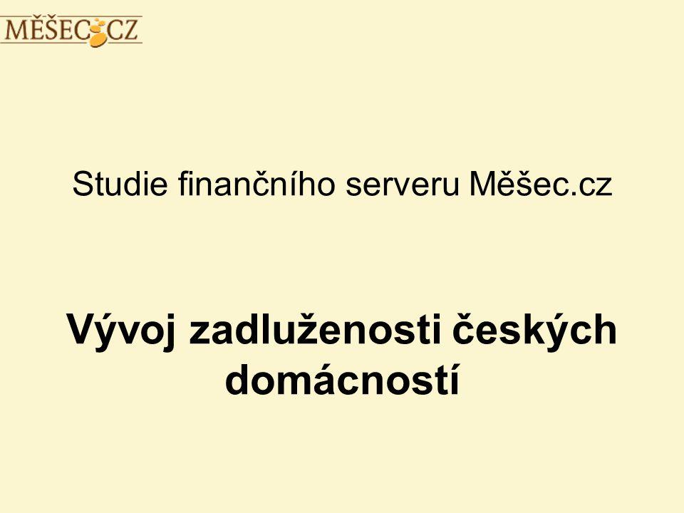 Studie finančního serveru Měšec.cz Vývoj zadluženosti českých domácností