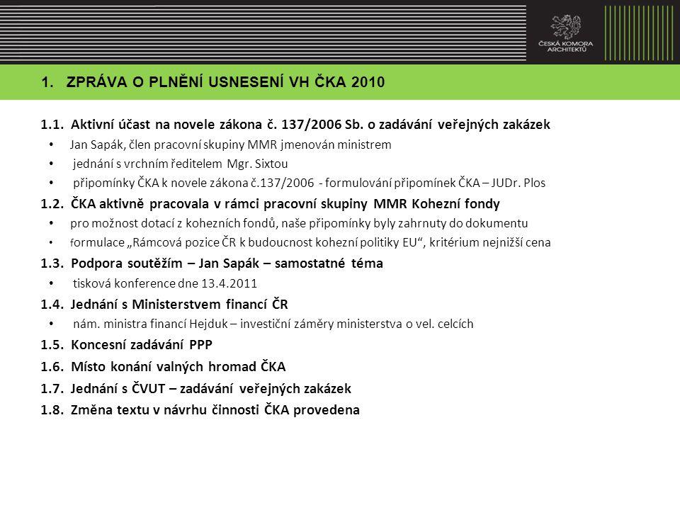 2.SPLNĚNÍ PROGRAMU ČINNOSTI ČKA ZA OBDOBÍ 2010-2011 2.1.