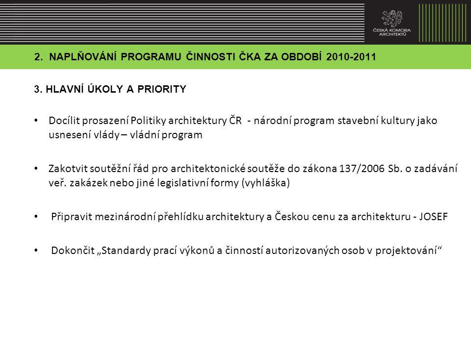 2.NAPLŇOVÁNÍ PROGRAMU ČINNOSTI ČKA ZA OBDOBÍ 2010-2011 4.