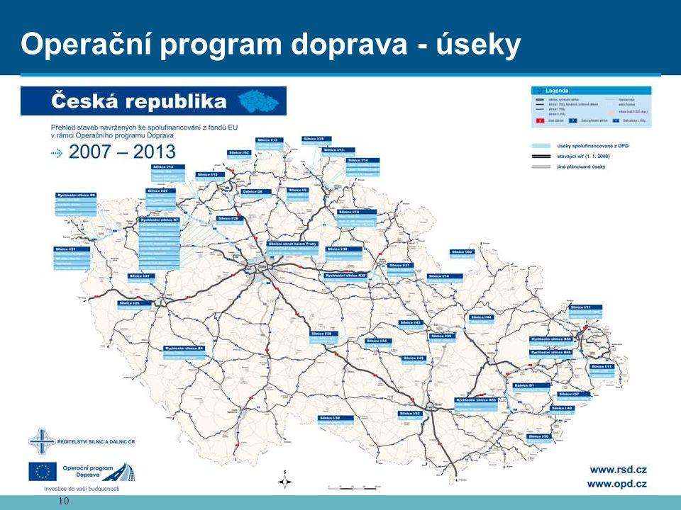 10 Operační program doprava - úseky