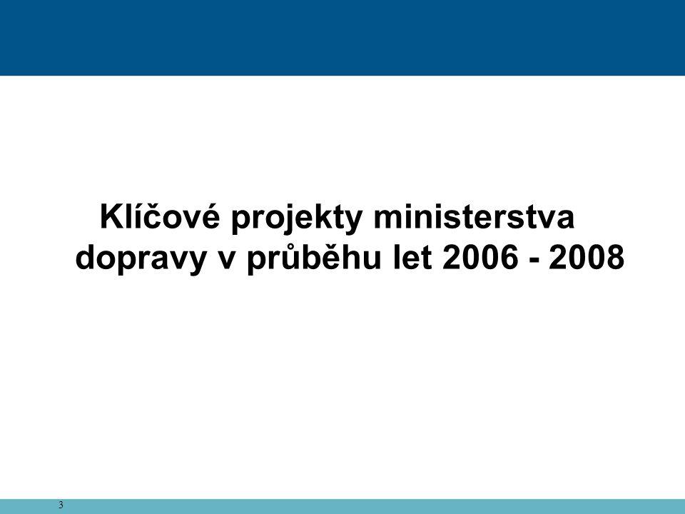 24 Plnění Programového prohlášení Vlády ČR v oblasti dopravy
