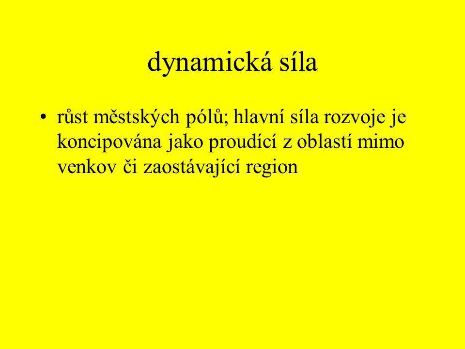 klíčový princip •ekonomika rozsahu (velikosti) a koncentrace ve zaostávajících regionech (na venkově)