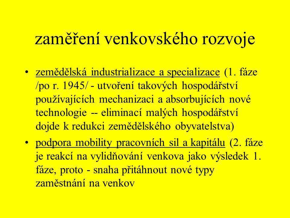 funkce venkovských oblastí •primární sektor u venkova (tj.
