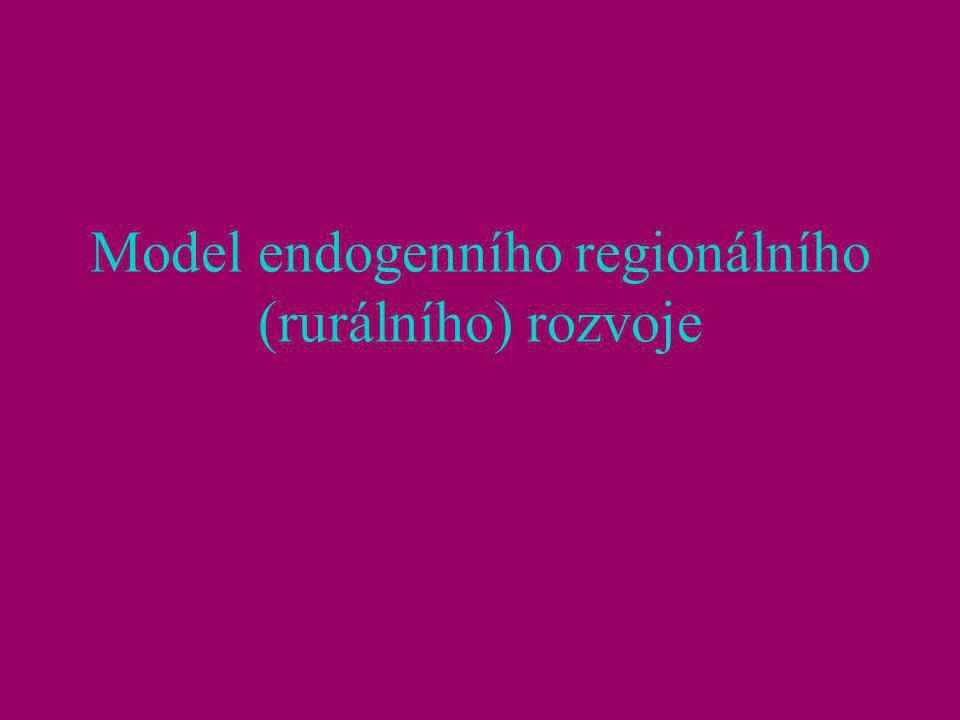 Endogenní regionální (rurální) rozvoj (EnRo) reakce na problémy ExoRo zřejmé od 80. let