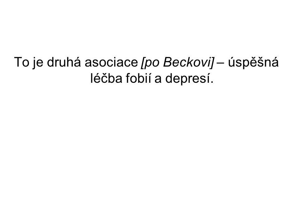 To je druhá asociace [po Beckovi] – úspěšná léčba fobií a depresí.