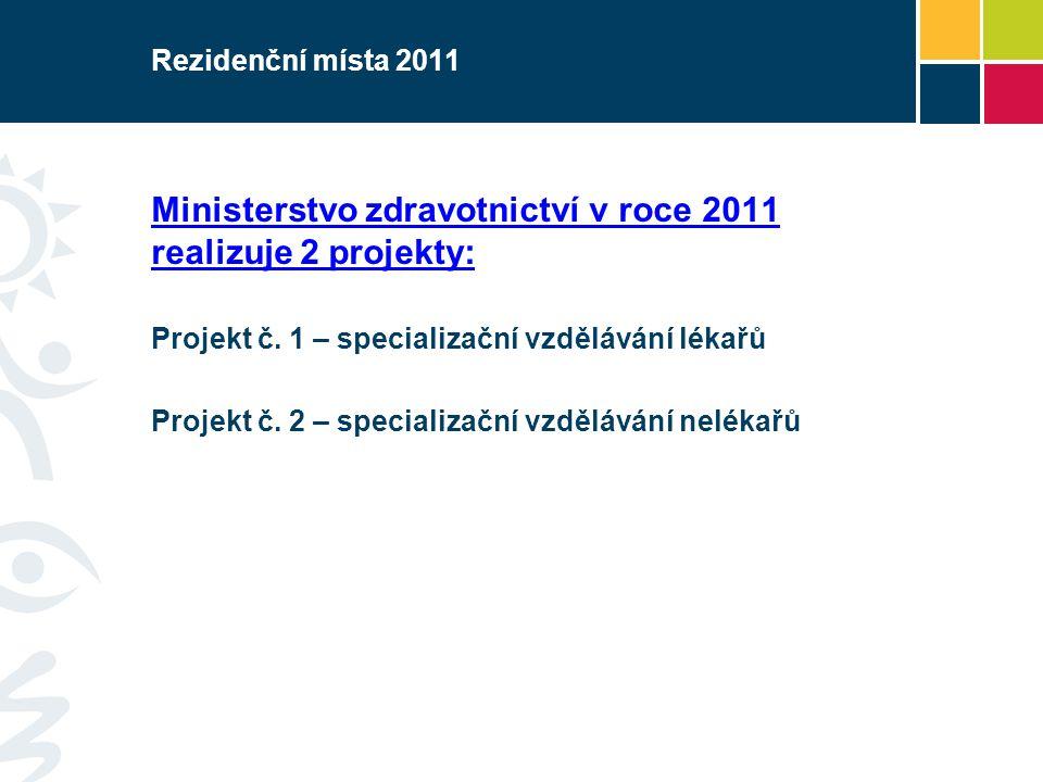 Rezidenční místa 2011 - Projekt č.