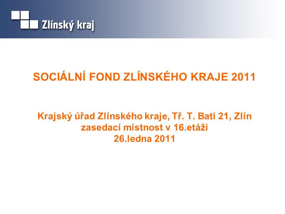 1.Úvod 2. Informace o Sociálním fondu ZK 2011 3. Podporované aktivity projektů 4.