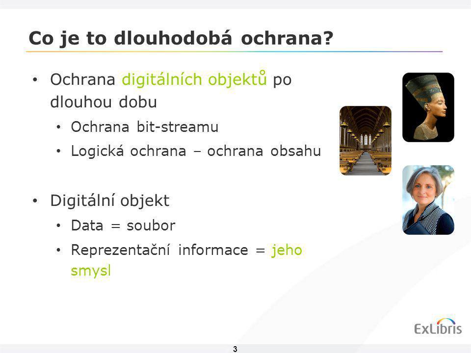 3 Co je to dlouhodobá ochrana? • Ochrana digitálních objektů po dlouhou dobu • Ochrana bit-streamu • Logická ochrana – ochrana obsahu • Digitální obje