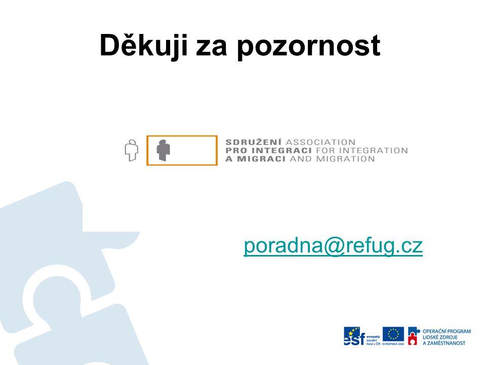 Děkuji za pozornost poradna@refug.cz
