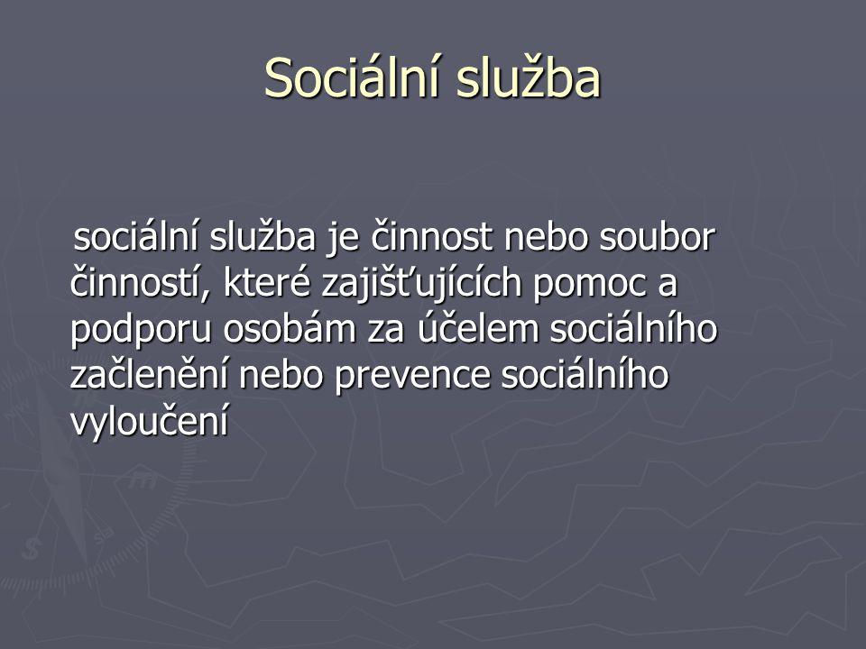 Nepříznivá sociální situace Může nastat z důvodu: • věku (senioři) • nepříznivého zdravotního stavu (dlouhodobá nemoc ….) • krizové sociální situace (ztráta bydlení, zaměstnání ….) • sociálně znevýhodňujícího prostředí ( • trestné činnosti jiné fyzické osoby (okradení ….) Zákon se snaží podporovat sociální začlenění lidí a chránit občany před sociálním vyloučením