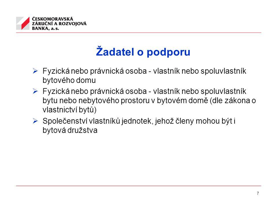8 Opravovaný dům  Bytový dům na území České republiky  Předmětem opravy musí být nejméně činnosti uvedené v části A přílohy č.