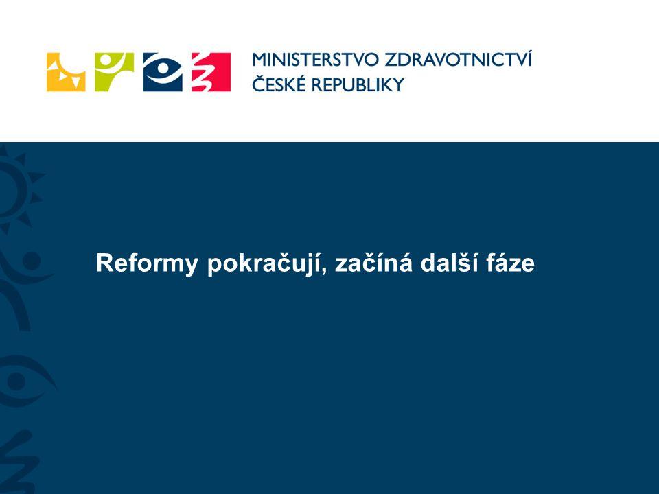 Reformy pokračují, začíná další fáze