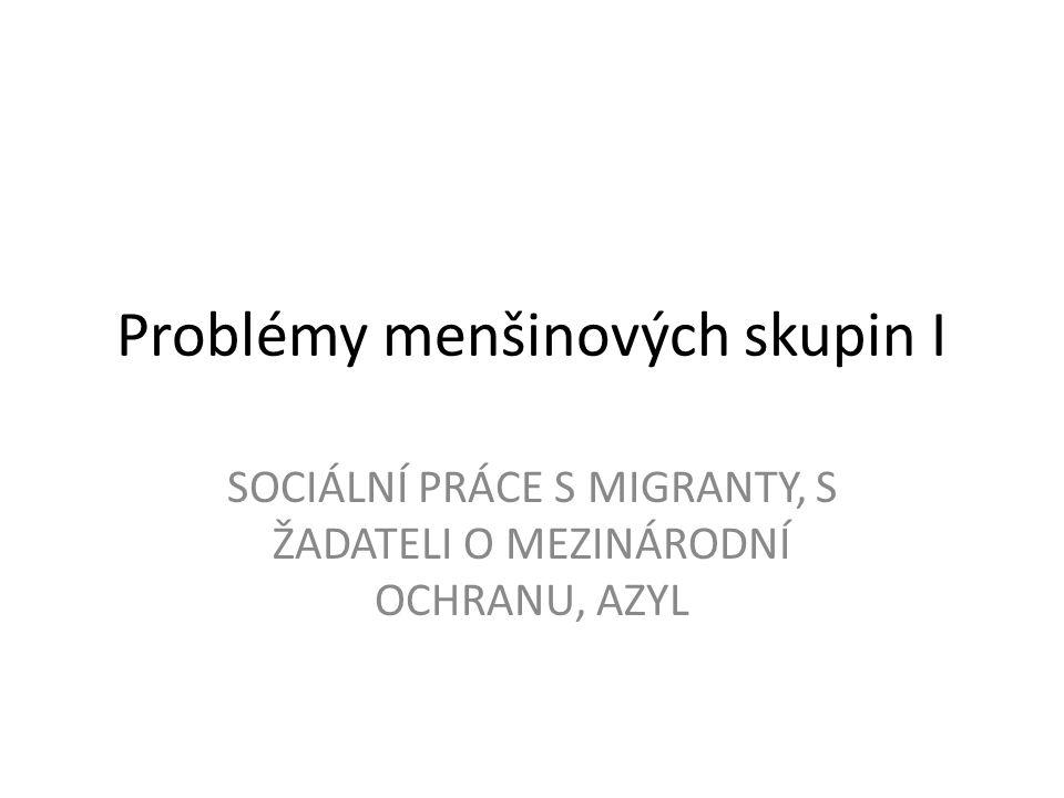 Problémy menšinových skupin I SOCIÁLNÍ PRÁCE S MIGRANTY, S ŽADATELI O MEZINÁRODNÍ OCHRANU, AZYL