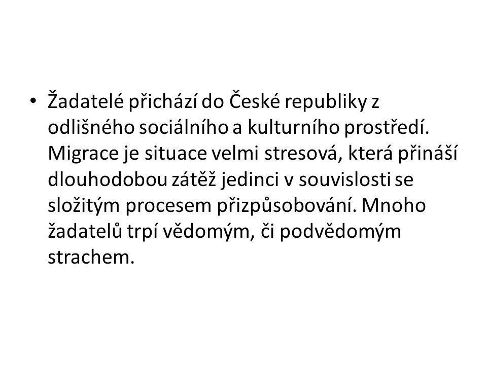 • Žadatelé přichází do České republiky z odlišného sociálního a kulturního prostředí.