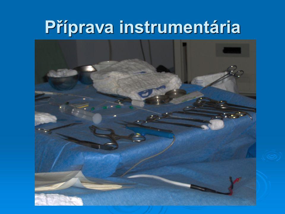 Příprava instrumentária