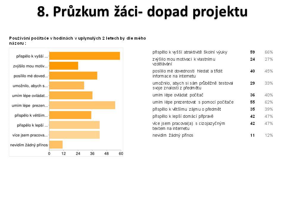 8. Průzkum žáci- dopad projektu