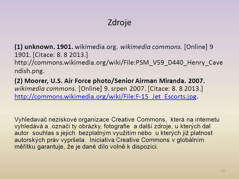 Zdroje (1) unknown.1901. wikimedia.org. wikimedia commons.