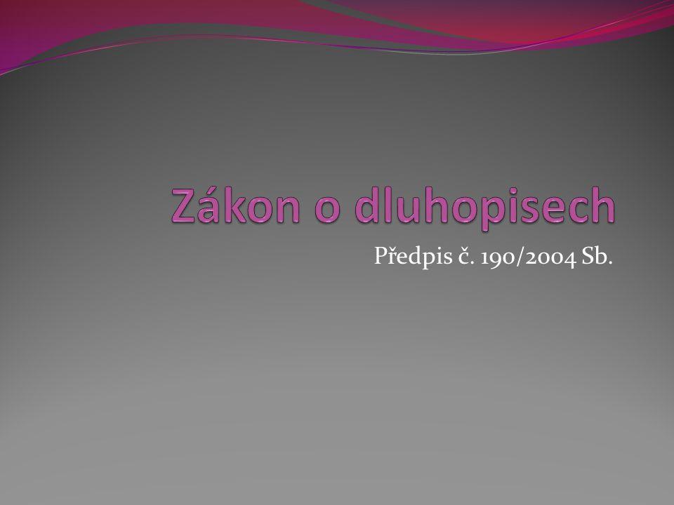 Předpis č. 190/2004 Sb.