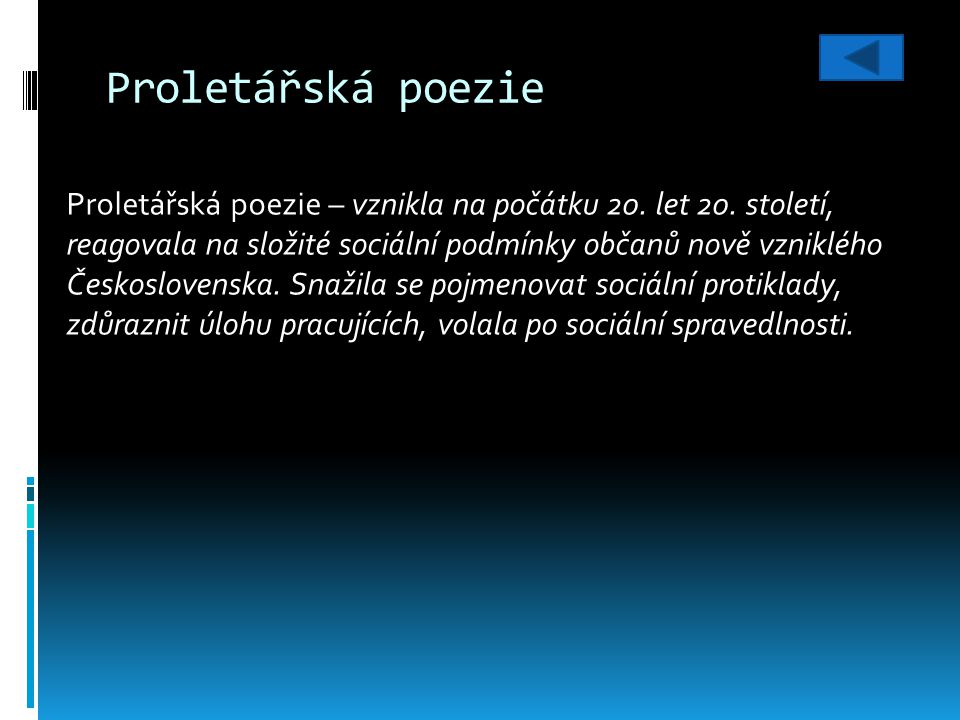 Použitá literatura: KOŠŤÁK, Jaromír.Literatura III.: Pracovní učebnice pro 6.-9.