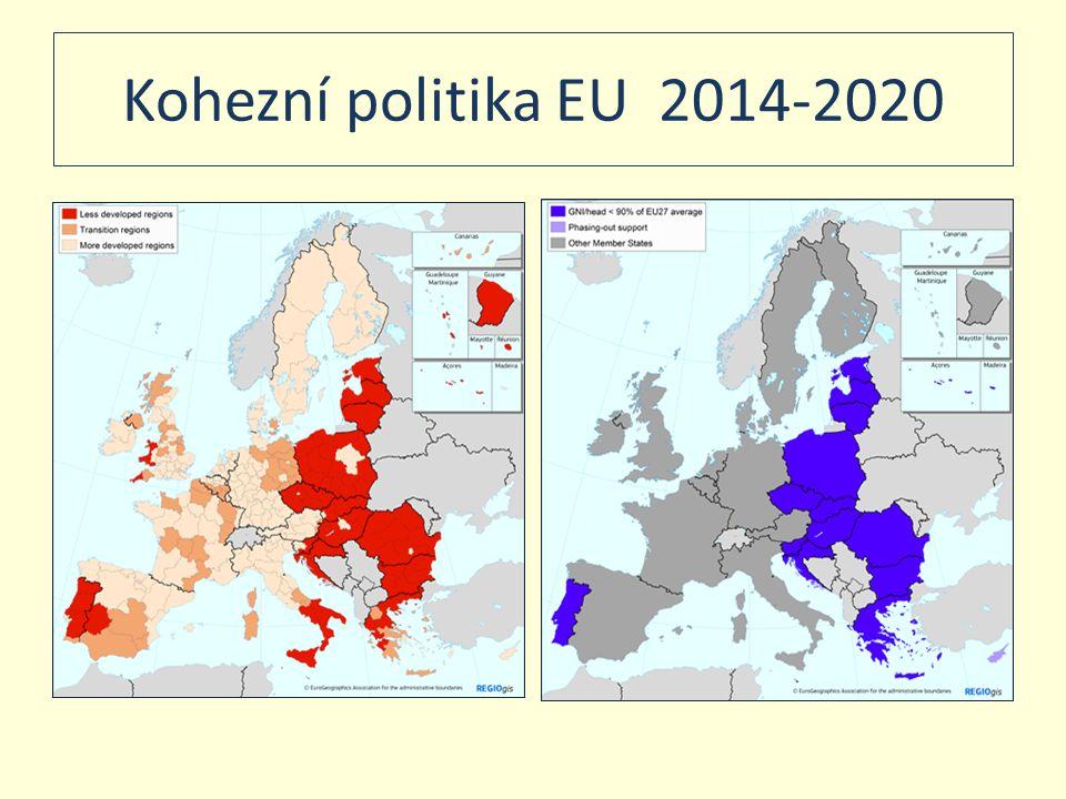 Devět klíčových koridorů TEN T Na období 2014 – 2020 26 mld.