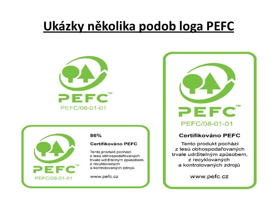 Ukázky několika podob loga PEFC
