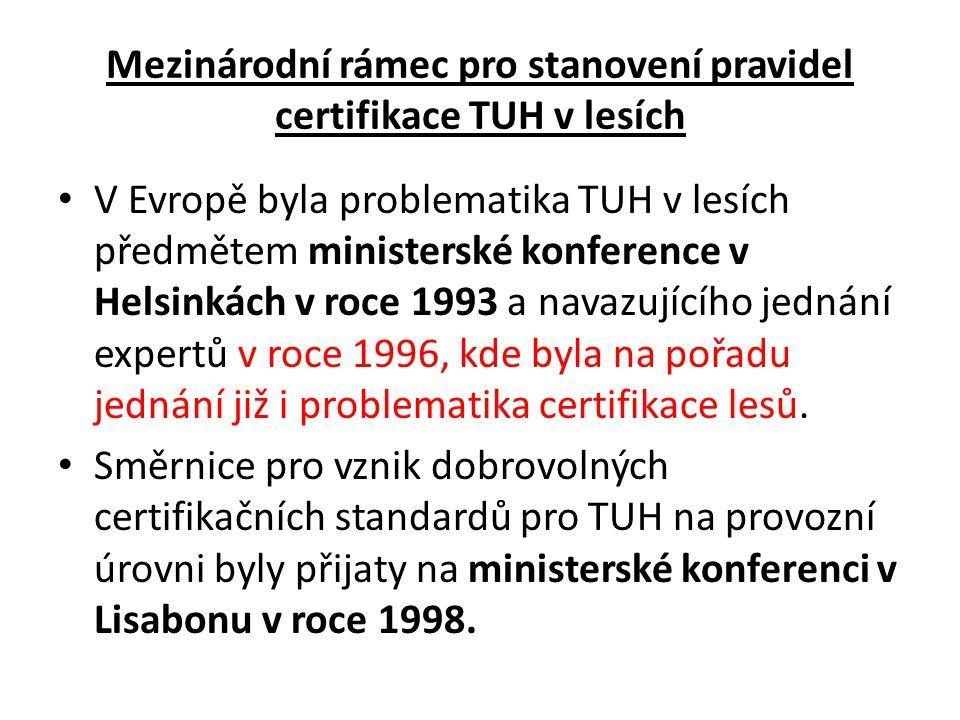 Co rozumíme pod pojmem certifikace TUH v lesích .