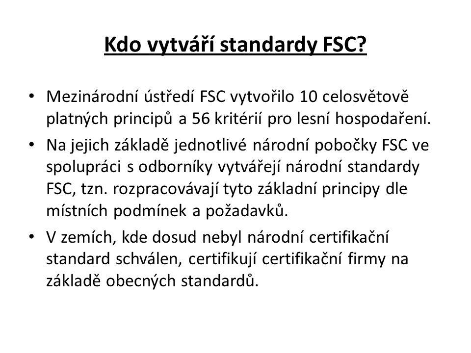 Kdo vytváří standardy FSC.
