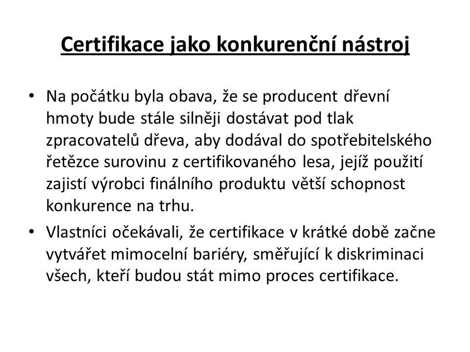 Certifikace TUH v lesích