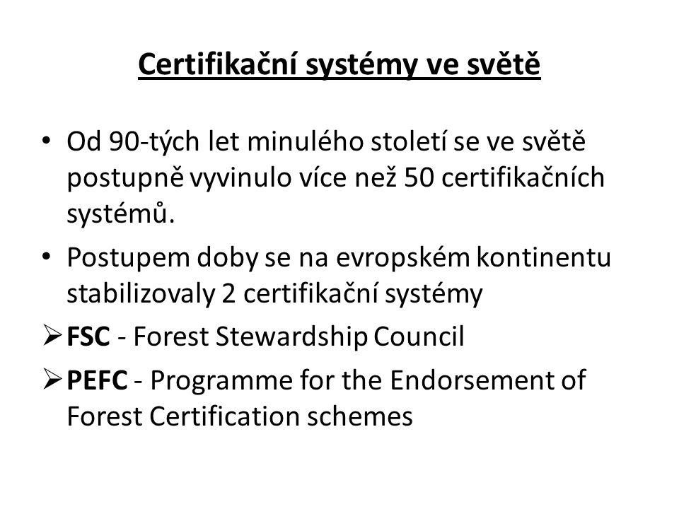 Základní princip FSC • Cílem FSC je podporovat * environmentálně odpovědné, * sociálně přínosné a * ekonomicky životaschopné obhospodařování lesů celého světa, a tím napomoci chránit mizející, ohrožené a devastované světové lesy.