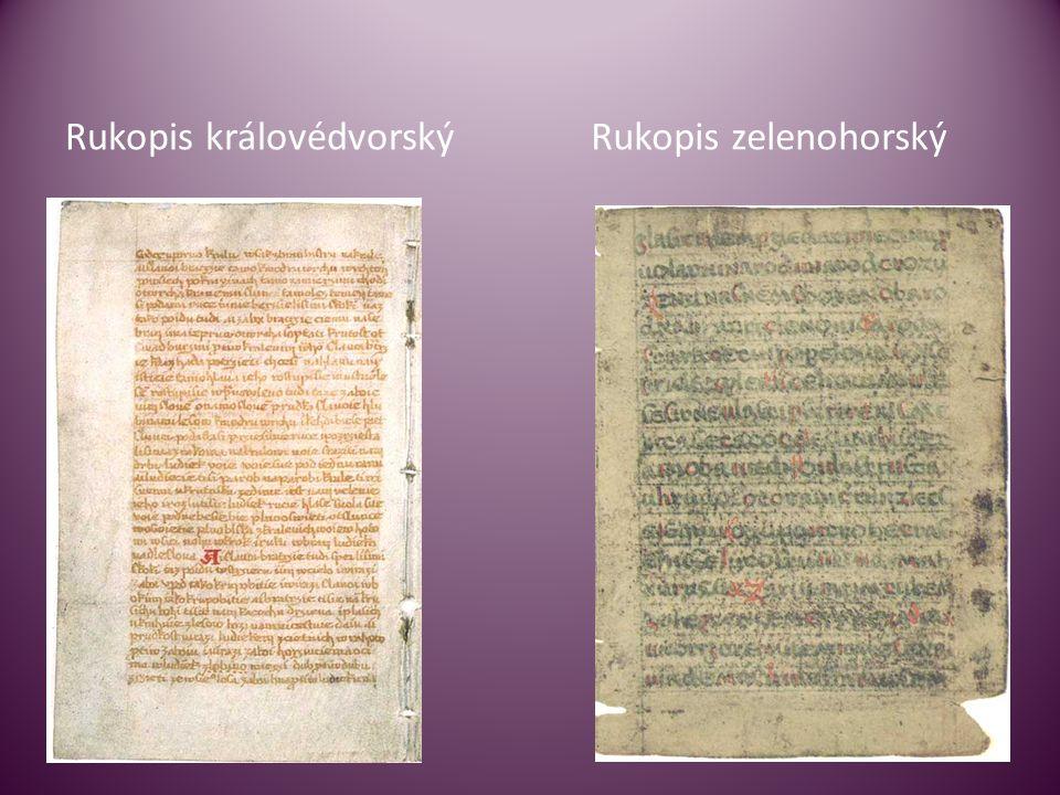 Rukopis královédvorskýRukopis zelenohorský