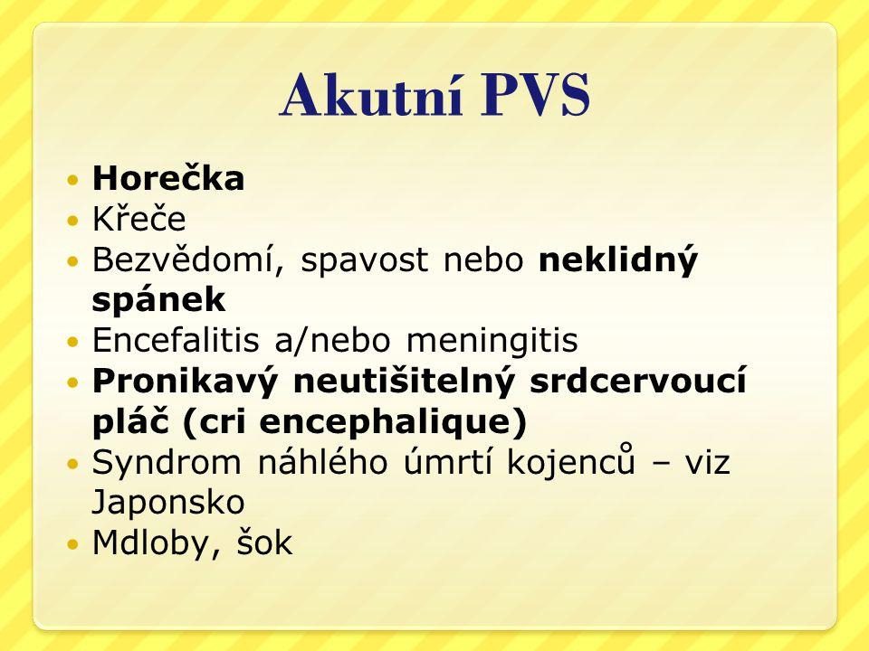 Chronický PVS  Známky narušení IS –opakované nebo chronické infekce, alergie, ekzém, astma apod.