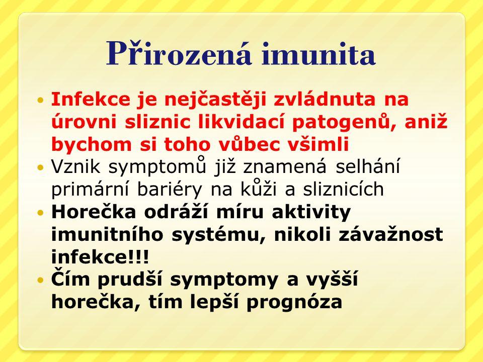P ř irozená imunita  Druhou složkou imunitního systému je  Th2 - protilátková imunita  Její přílišná aktivita vede k alergiím a autoimunitním projevům  Je zprostředkována lymfocyty a plasmatickými buňkami  Při přirozené infekci jsou protilátky tvořeny až na závěr nemoci a vedou k útlumu akutní zánětlivé reakce