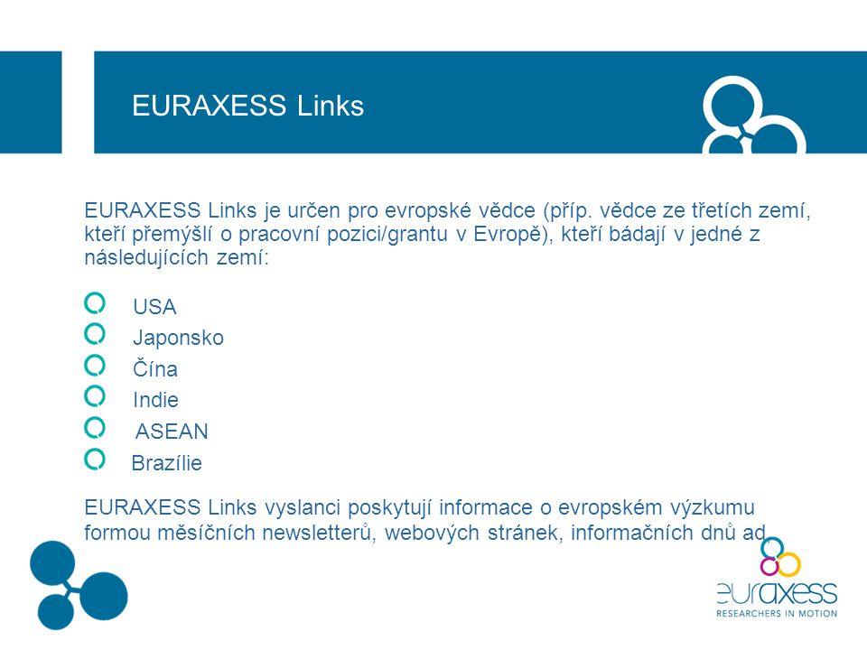 EURAXESS Links EURAXESS Links je určen pro evropské vědce (příp.