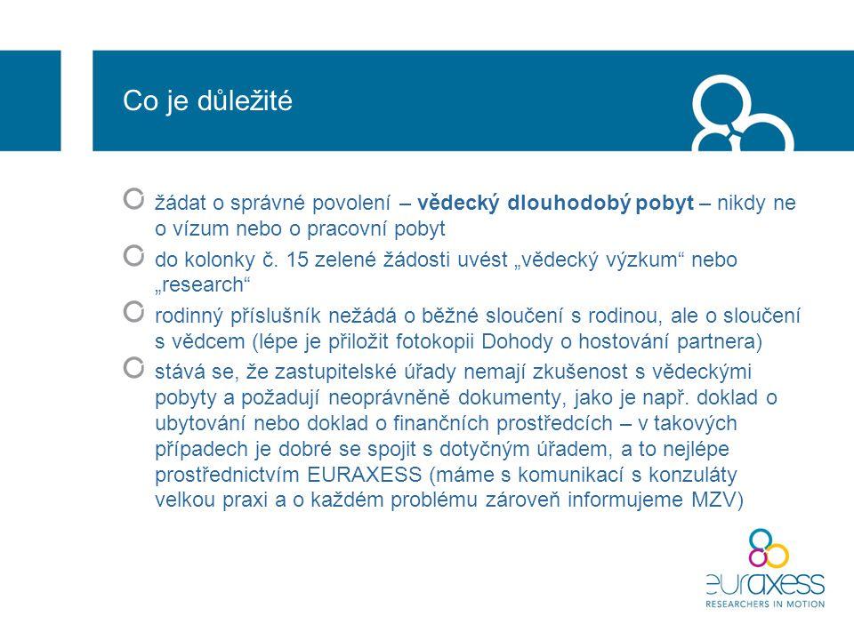 Co je důležité žádat o správné povolení – vědecký dlouhodobý pobyt – nikdy ne o vízum nebo o pracovní pobyt do kolonky č.