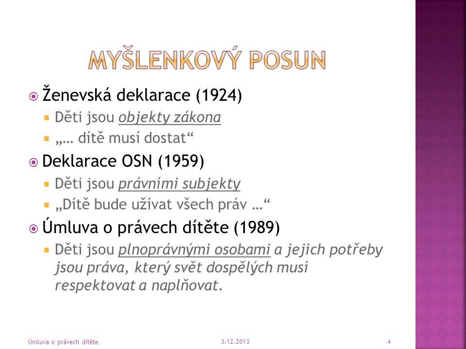 Článek 30  vlastní kultura  vlastní náboženství  vlastní jazyk 3.12.2013 Úmluva o právech dítěte 35