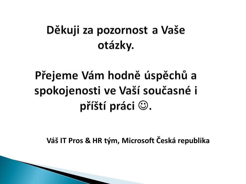 Váš IT Pros & HR tým, Microsoft Česká republika