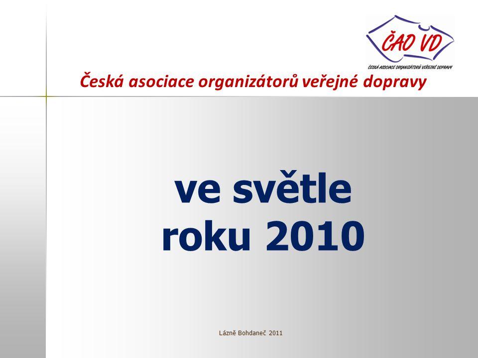 Česká asociace organizátorů veřejné dopravy ve světle roku 2010 Lázně Bohdaneč 2011