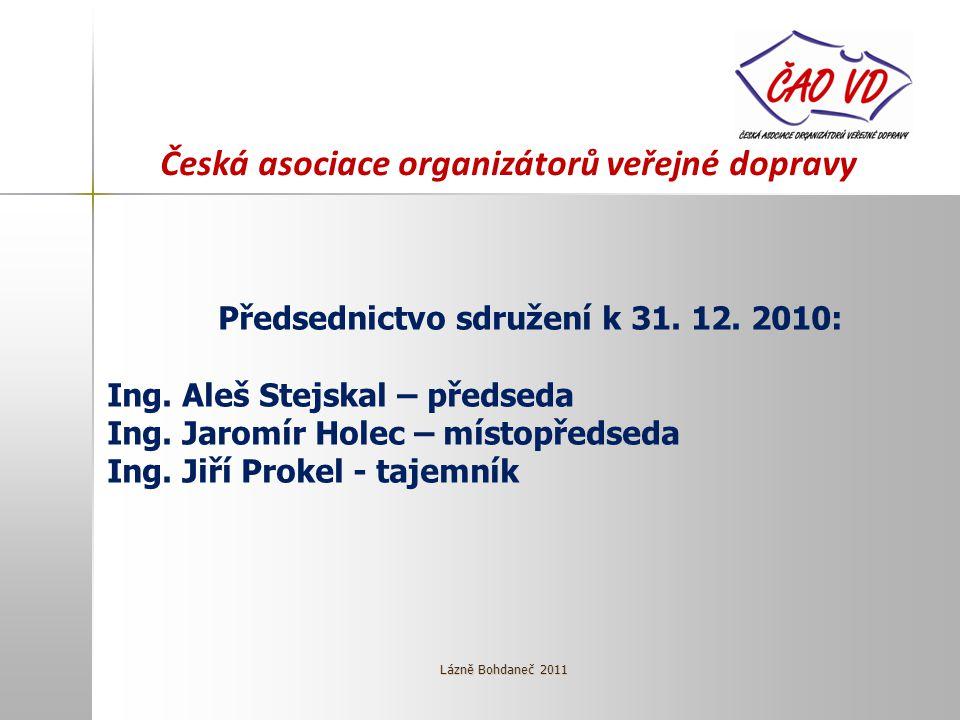 Česká asociace organizátorů veřejné dopravy Předsednictvo sdružení k 31.