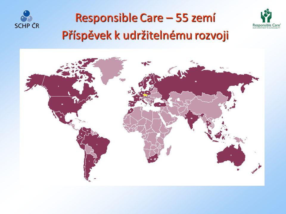 Responsible Care – 55 zemí Příspěvek k udržitelnému rozvoji
