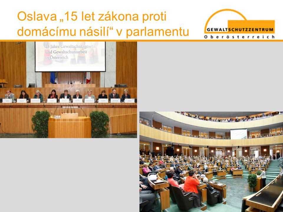 """Oslava """"15 let zákona proti domácímu násilí"""" v parlamentu"""
