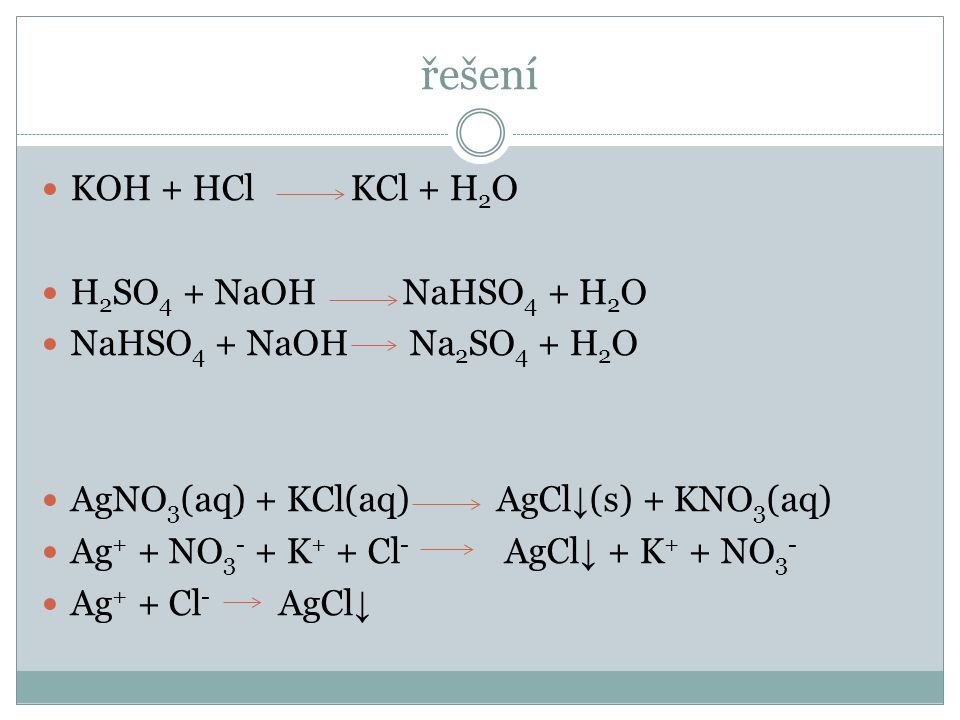 Dělení reakcí  Podle mechanismu průběhu  Acidobazické  Reakce kyseliny a zásady  Je přenášen proton v podobě vodíkového kationtu  Oxidačně redukční  Přenášen elektron