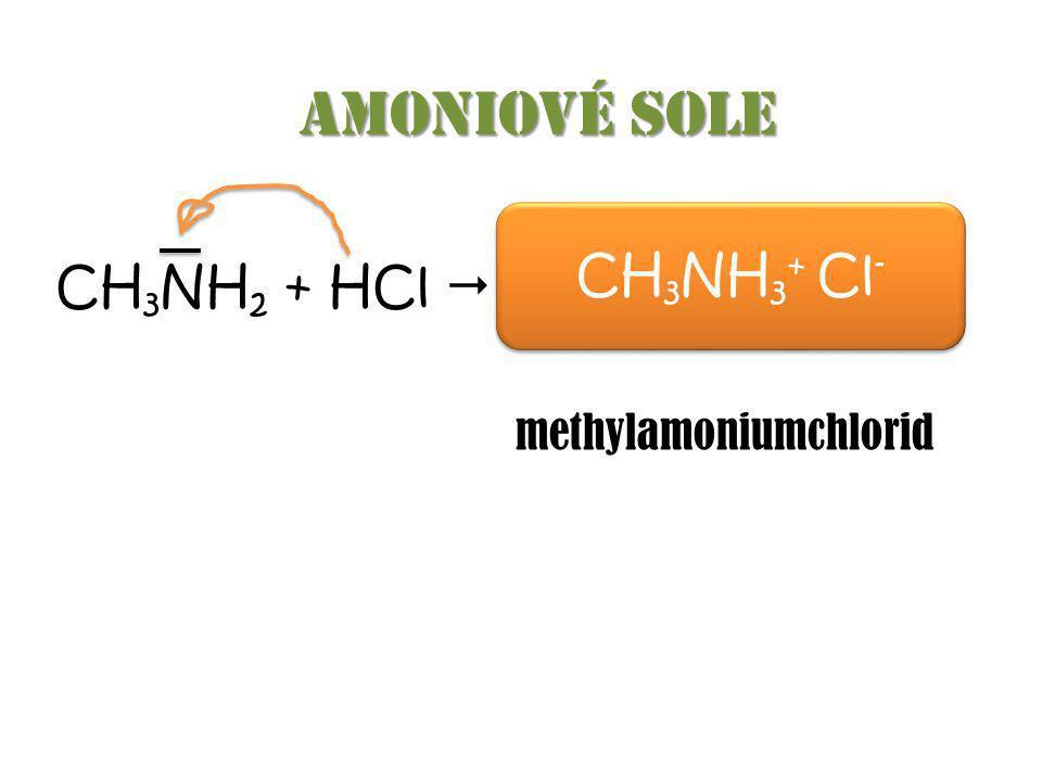 CH 3 N H H Vliv aminoskupiny σ týká se σ elektron ů - Induk č ní efekt δ+δ+ δ-δ-