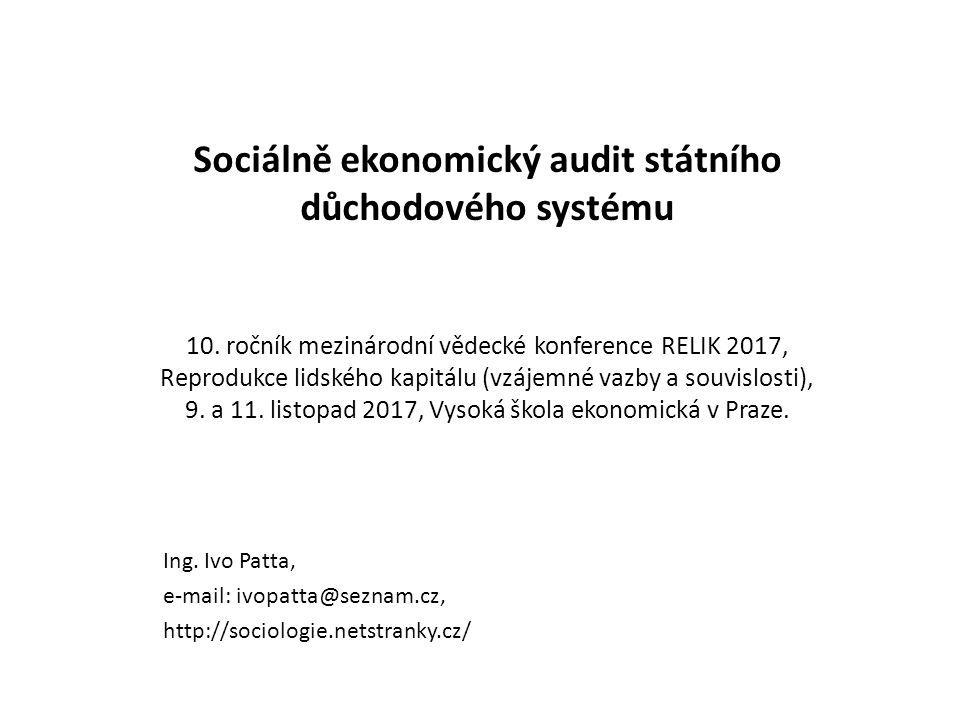 Sociálně ekonomický audit státního důchodového systému 10.