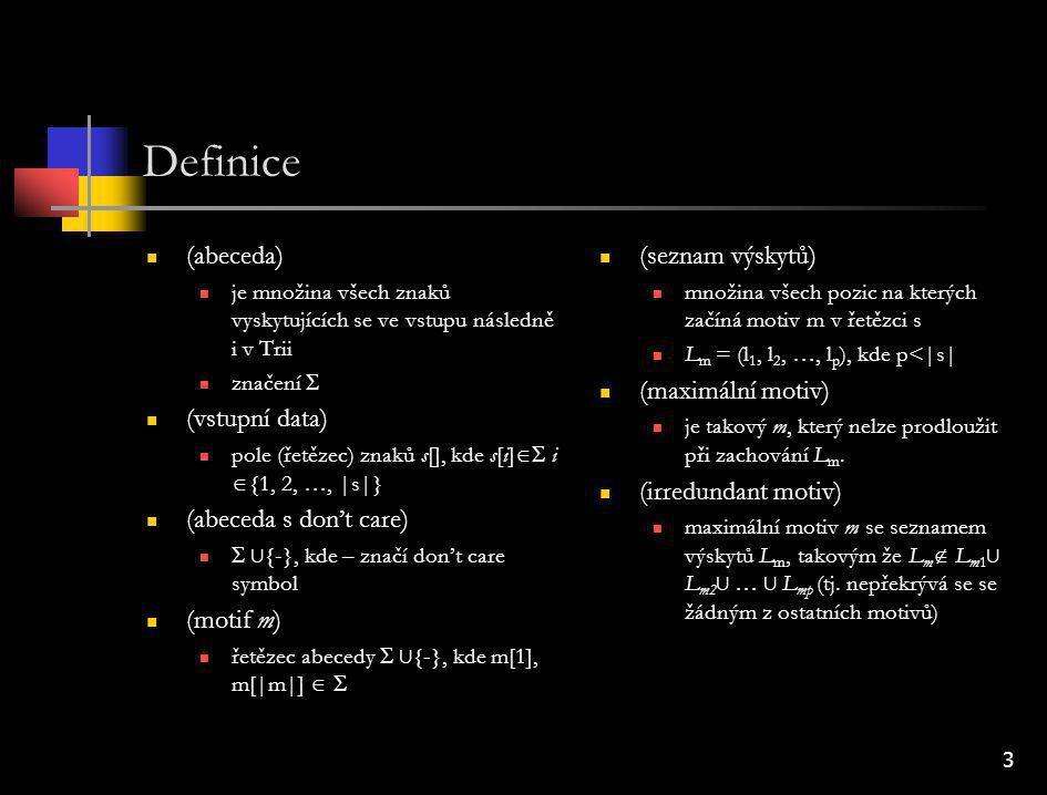 14 Kombinace don't care s greedy algoritmy Zpracování vstupu u llc jsou výsledkem dva slovníky u lc probíhá obvyklým způsobem Ze slovníku se vybere motiv s |m|L m maximálním a ten je zakomprimován Komprimovaný motiv se řídí Off- Line i předpisem problém s Off-Line 2 (dodržení schématu je podstatně dražší) Opakování procedury ke komprimovanému textu se přidá resolver a potřebné slovníky Procedura se opakuje (zpracování vstupu, výběry motivů) Problémy zpracovávané motivy musí být irredundant algoritmus jinak ztrácí na efektivitě irredundant motivy se nepřekrývají – není třeba Trii stále obnovovat počet vln komprese musí být rozumně omezen časová náročnost kompresní poměr u lc dochází ke zbytečným ztrátám bez zvýšení efektivity