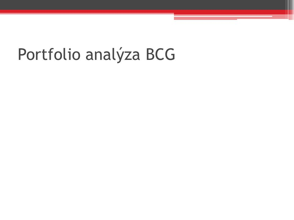 Portfolio analýza BCG