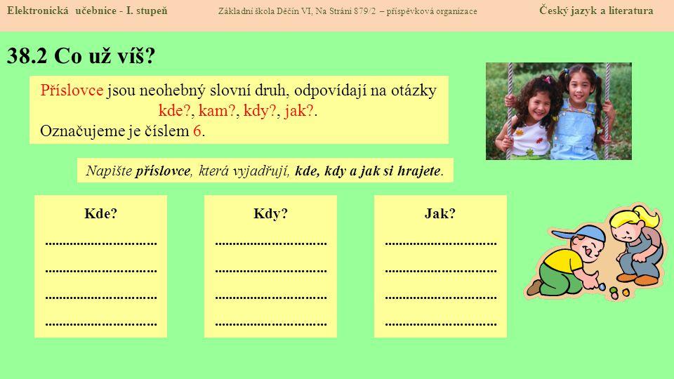 38.3 Jaké si řekneme nové termíny a názvy.Elektronická učebnice - I.
